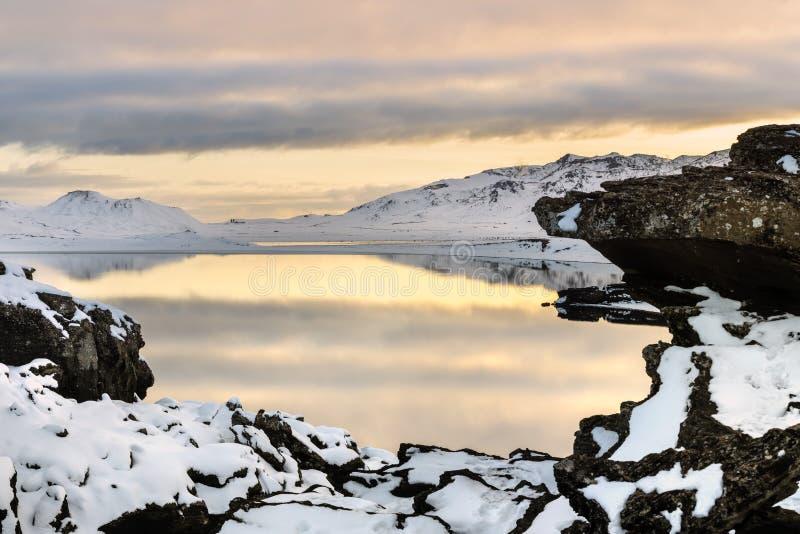 Kleifarvatn jezioro, Iceland zdjęcie royalty free