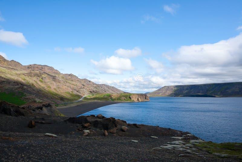 Kleifarvatn lake landscape, southern peninsula, Iceland stock photos
