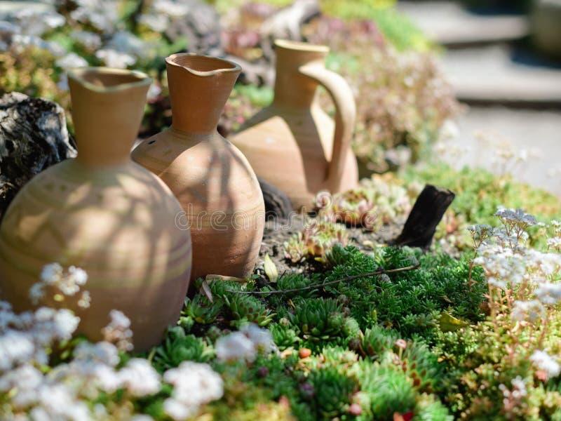 Kleikruiken, wijnoogst - Gardenia Garden door Zurab Shevardnadze royalty-vrije stock foto's