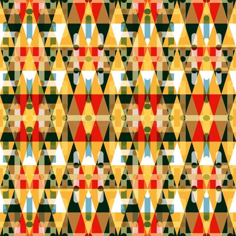 Klein Abstract naadloos gekleurd patroon in retro stijl stock illustratie