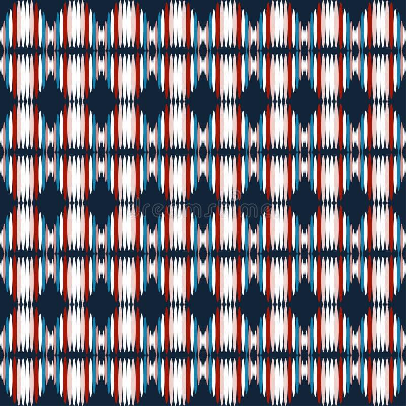 Klein abstract naadloos patroon op een zwarte achtergrond vector illustratie