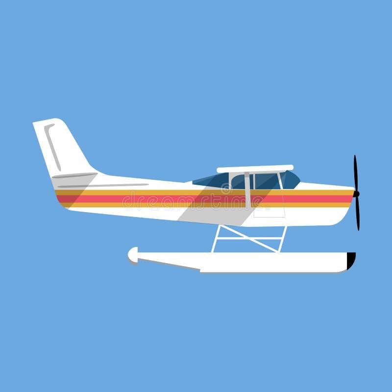 Klein amfibiewatervliegtuig stock illustratie