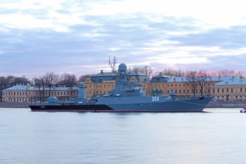 Klein anti-submarine schip royalty-vrije stock fotografie