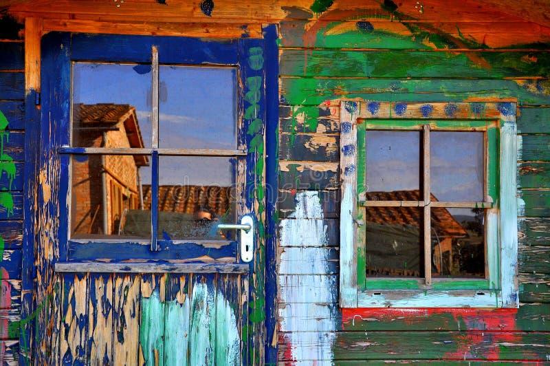 Klein blokhuis in Toscanië royalty-vrije stock afbeeldingen