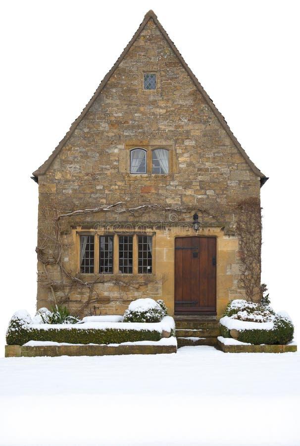 Klein Cotswold-plattelandshuisje, Engeland royalty-vrije stock afbeeldingen