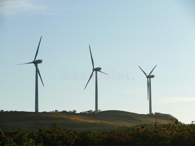 27-03-209 klein de windlandbouwbedrijf van Puerto Baquerizo Moreno Galapagos ecuaodr-A stock afbeelding