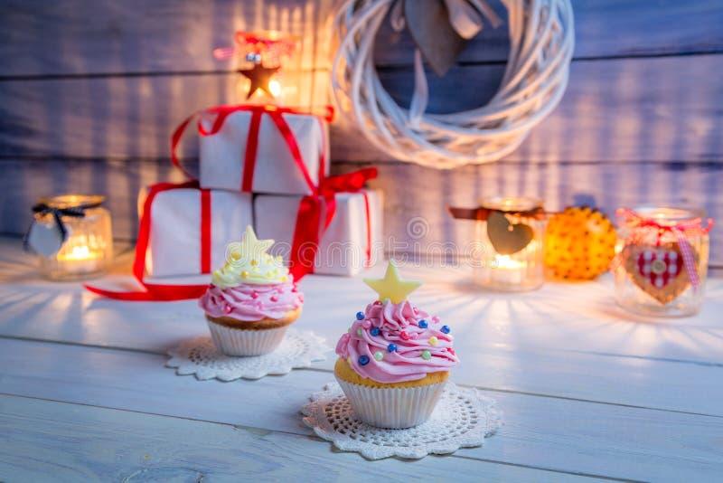 Klein dessert voor Kerstmis stock foto's