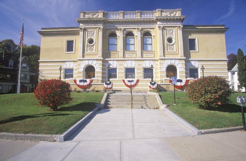 Klein die herenhuis in Bunting, New England wordt gedrapeerd royalty-vrije stock foto's