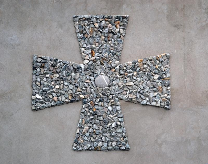 Klein dwars orthodox kruis stock foto