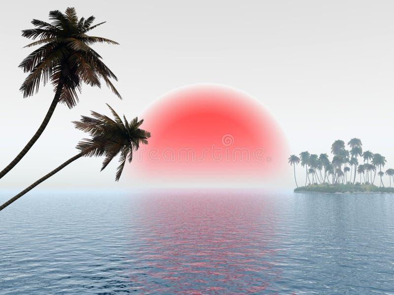 Klein Eiland vector illustratie