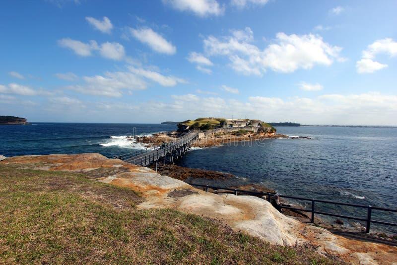 Klein eiland bij La perouse, oostelijk Sydney royalty-vrije stock fotografie