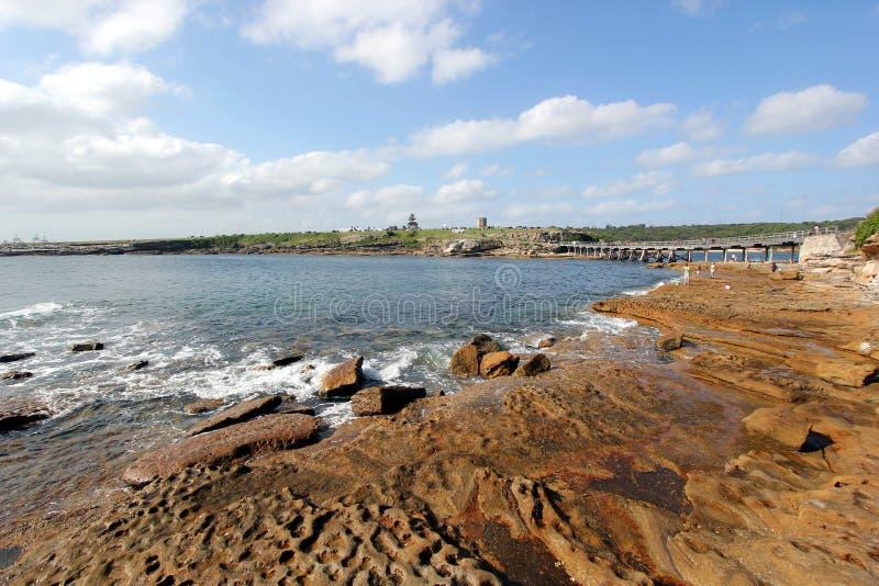 Klein eiland bij La perouse, oostelijk Sydney stock foto's