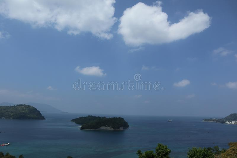 Klein Eiland in Sabang royalty-vrije stock fotografie