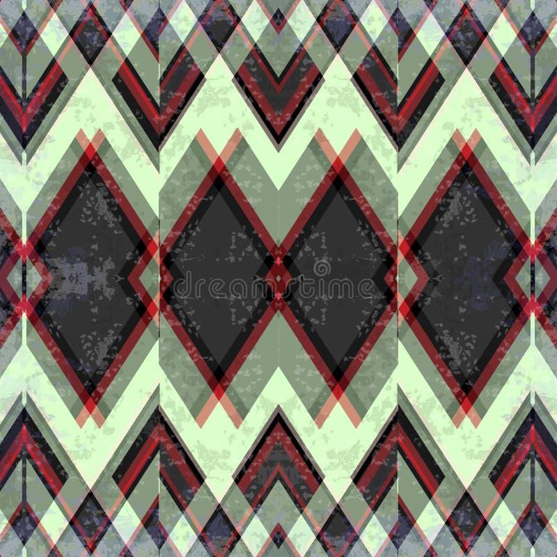 Klein en groot gekleurd veelhoeken abstract geometrisch achtergrondillustratie grunge effect stock illustratie