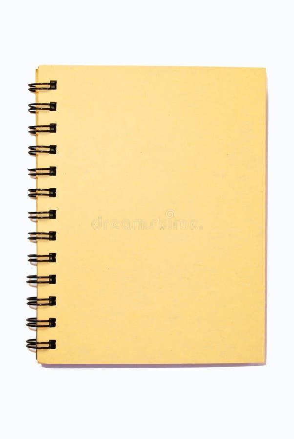 Klein geïsoleerdy notitieboekje stock fotografie