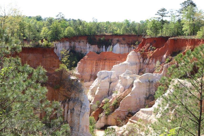 Klein Grand Canyon in Georgië stock foto's