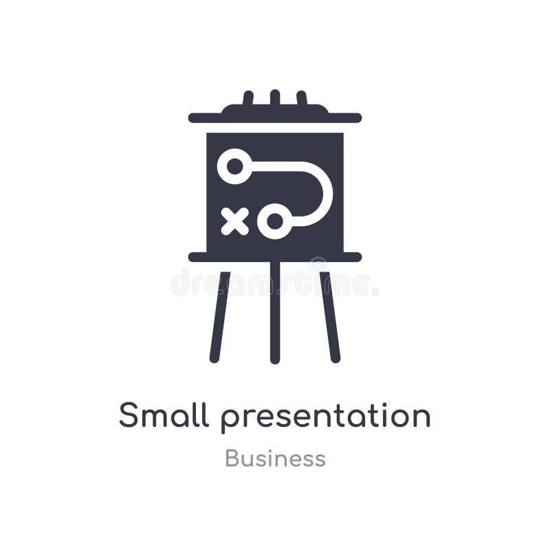 klein het overzichtspictogram van de presentatieraad ge?soleerde lijn vectorillustratie van bedrijfsinzameling editable dunne kle stock illustratie