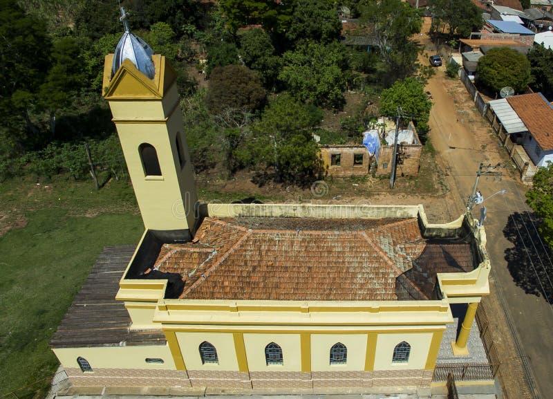 Klein Katholiek kerk Victoriaans, gemeentelijk district van Botucatu royalty-vrije stock afbeeldingen