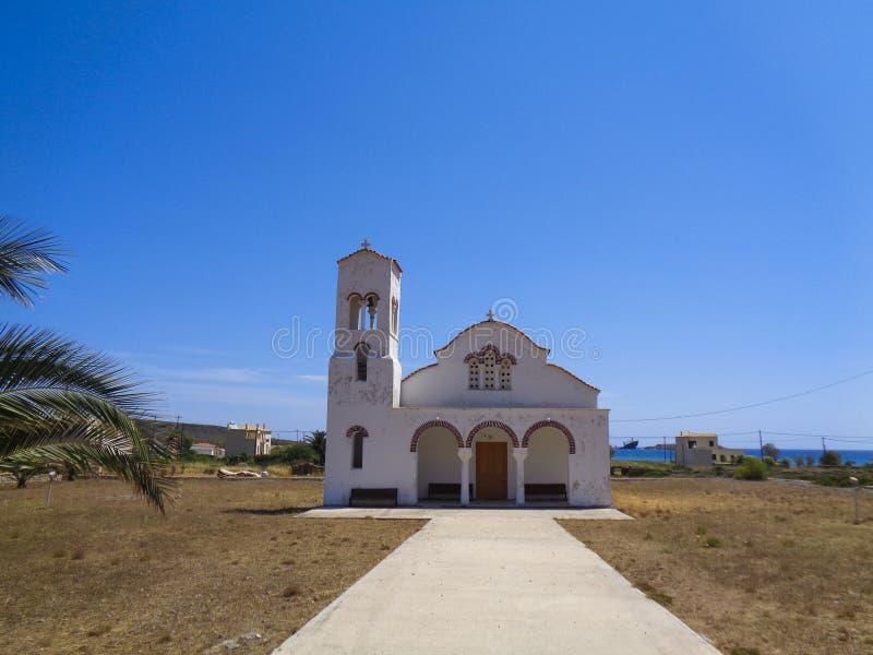 klein in kerk in Griekenland royalty-vrije stock fotografie