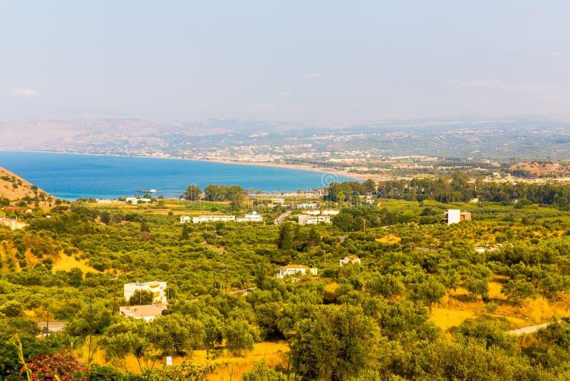 Klein Kretenzisch dorp Kavros in het eiland van Kreta, Griekenland royalty-vrije stock afbeelding