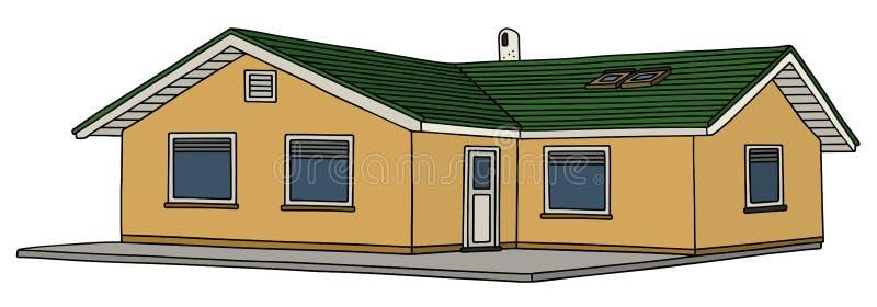 Klein laag huis vector illustratie