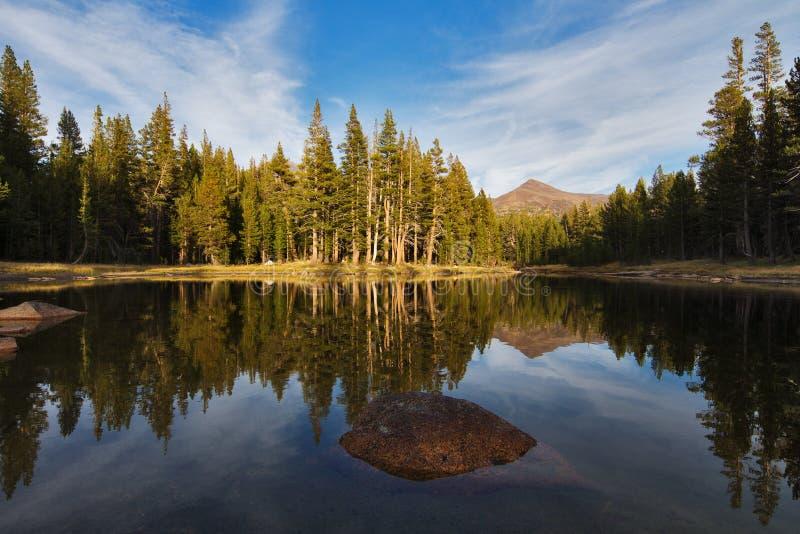 Klein meer in nationaal park Yosemite royalty-vrije stock foto