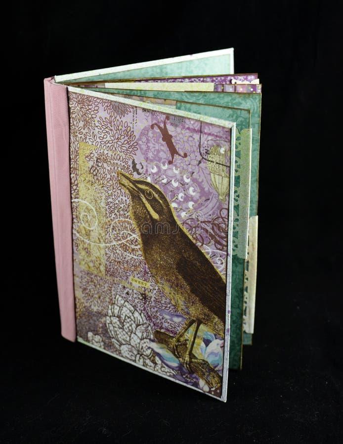 Klein met de hand gemaakt fotoalbum, algemene dekking royalty-vrije stock foto