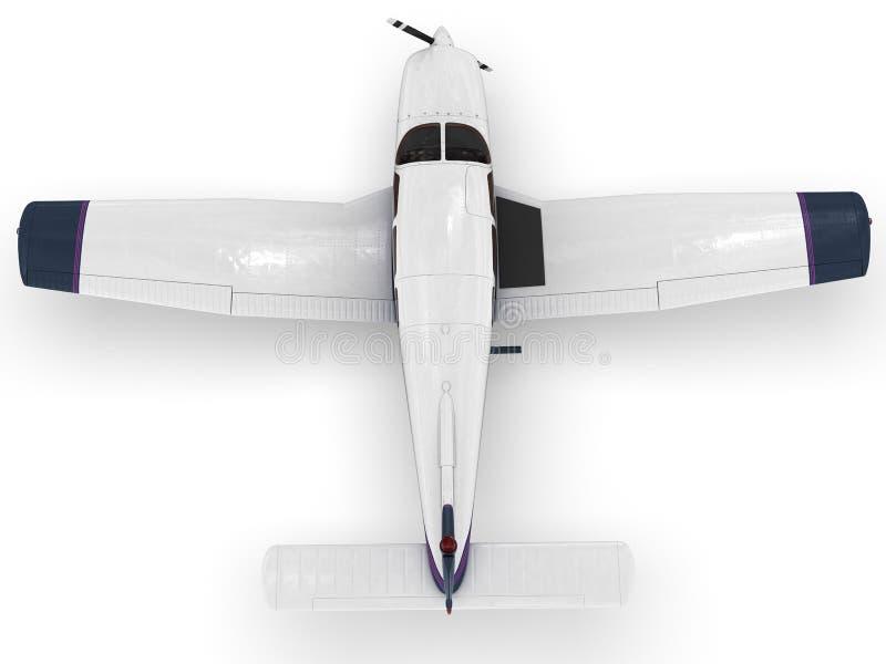 Klein modern passangervliegtuig stock illustratie
