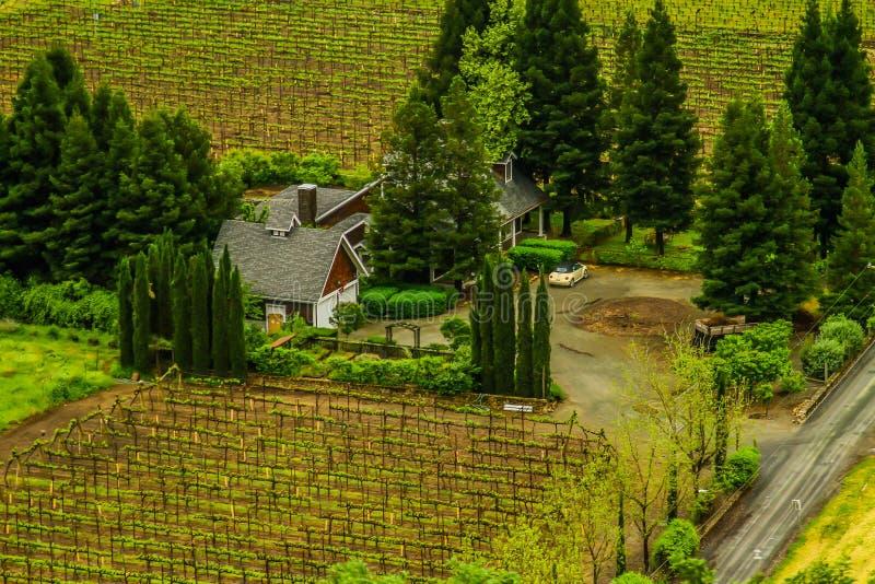 Klein Plattelandshuisje in Napa-Vallei royalty-vrije stock foto