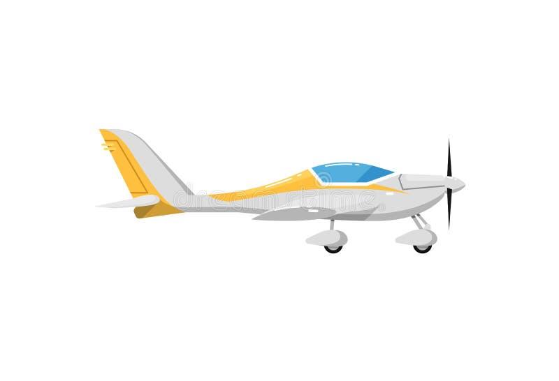 Klein propellervliegtuig geïsoleerd pictogram stock illustratie