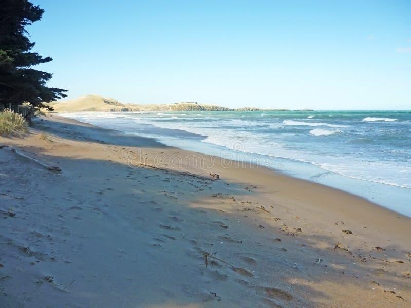 Klein stil strand bij Zuid-Pacifische oceaan, Nieuw Zeeland royalty-vrije stock fotografie