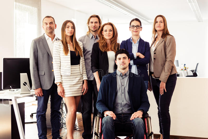 Kleinbetrieb Team In Their Office stockbild