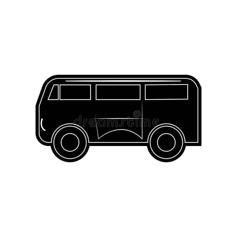 Kleinbusikone Element von Autos f?r bewegliches Konzept und Netz Appsikone Glyph, flache Ikone f?r Websiteentwurf und Entwicklung vektor abbildung