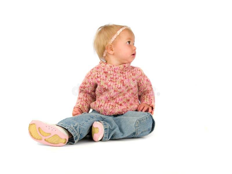 Kleine éénjarigenmeisje royalty-vrije stock afbeeldingen
