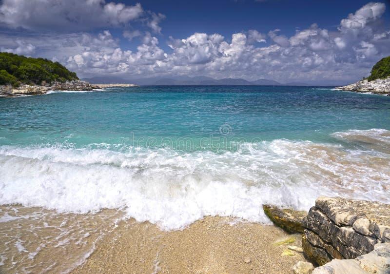 Kleine baai op het Eiland Kefalonia in Griekenland royalty-vrije stock foto
