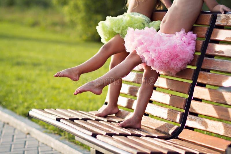 Kleine ballerina'sbenen stock afbeeldingen