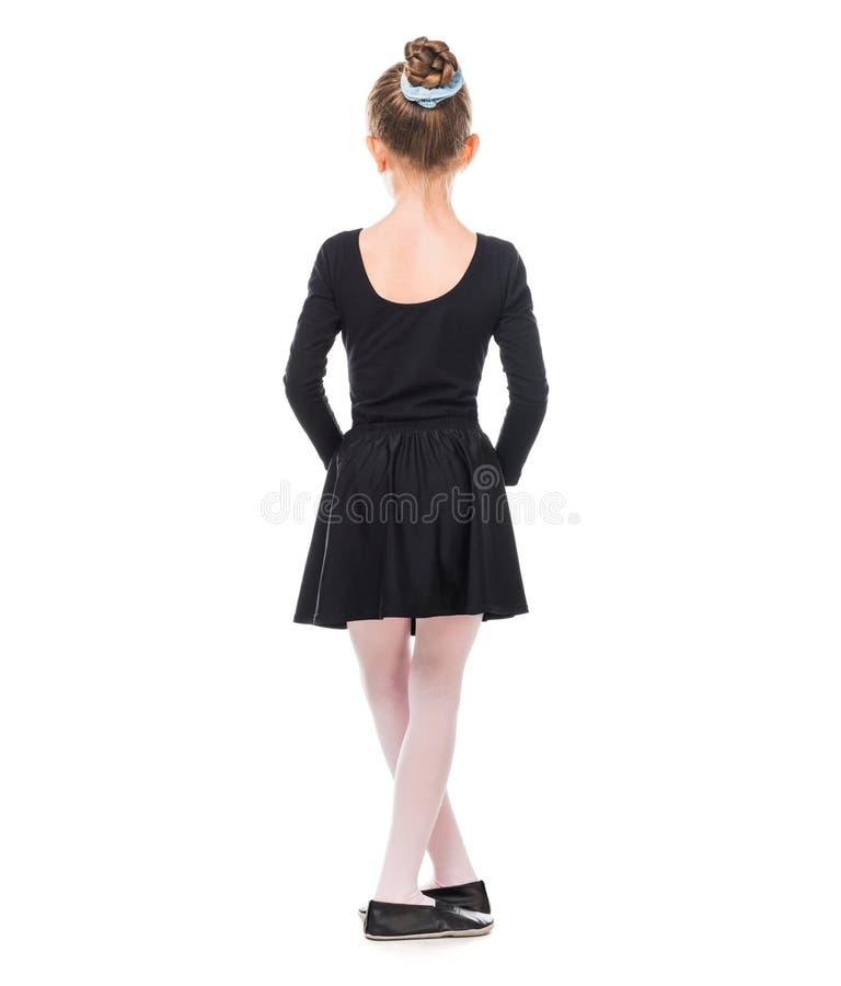 Kleine Ballerina von der Rückseite lizenzfreie stockbilder