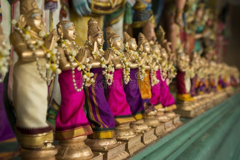 Kleine beeldjes in een Hindoeïsmetempel royalty-vrije stock foto