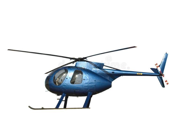 Kleine blauwe helikopter royalty-vrije stock afbeelding