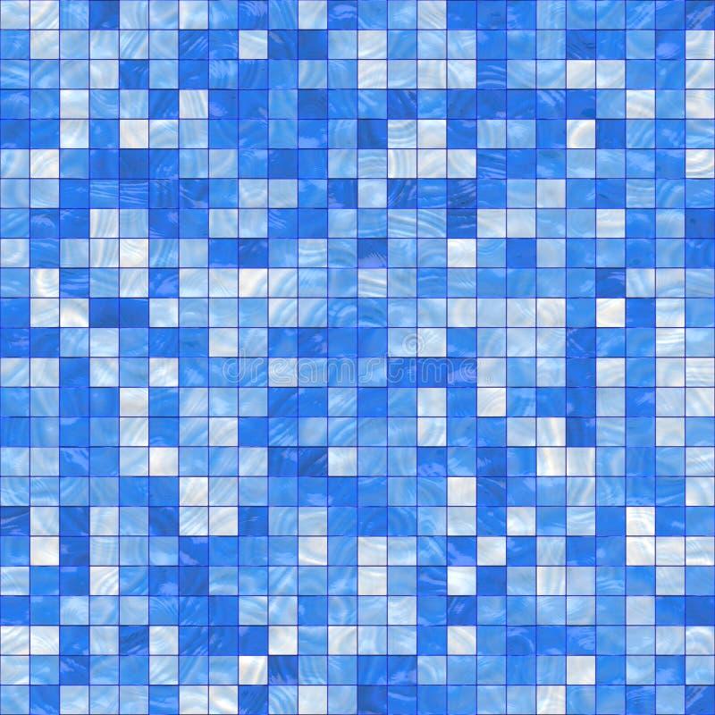 Kleine blauwe tegels stock illustratie