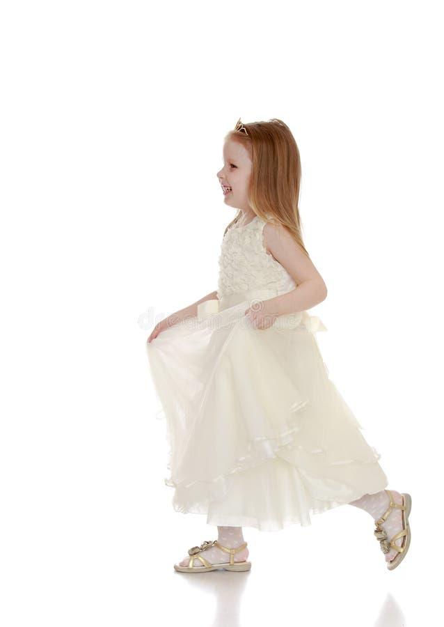 Kleine blondeprinses royalty-vrije stock afbeelding