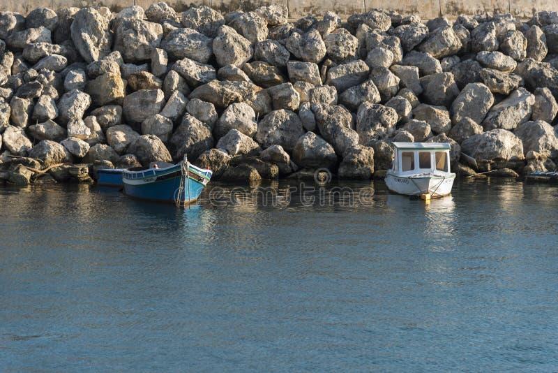 Kleine boten in MÄ ¡ arr haven Gozo, Malta royalty-vrije stock foto