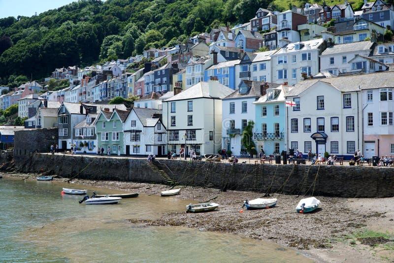 Kleine boten op Strand, Dartmouth, Devon royalty-vrije stock afbeelding