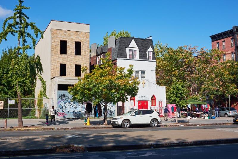 Kleine bptiste Kirche in Harlem stockbild
