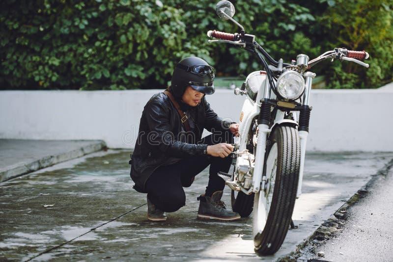 Kleine Breuk van Uitstekende Motorfiets royalty-vrije stock afbeeldingen