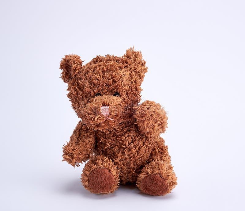 Kleine bruine teddybeer royalty-vrije stock afbeeldingen