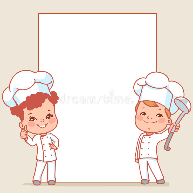 Kleine Chef-koks vector illustratie