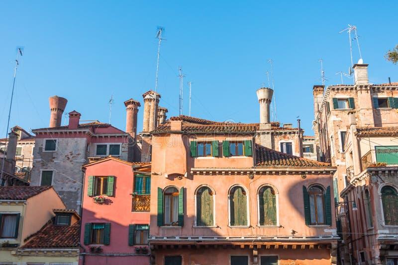 Kleine comfortabele binnenplaatsen van de stad van Venetië, Italië royalty-vrije stock foto's
