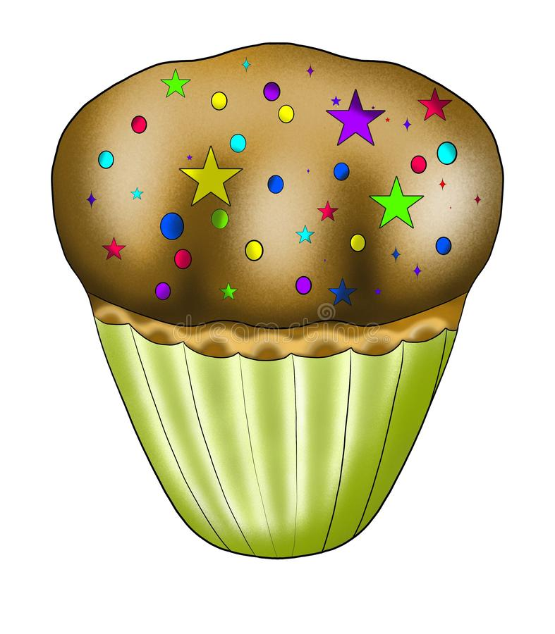 Kleine cupcake stock foto's