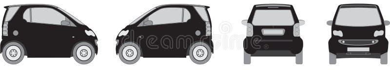 Kleine de stadsauto van Eco vector illustratie
